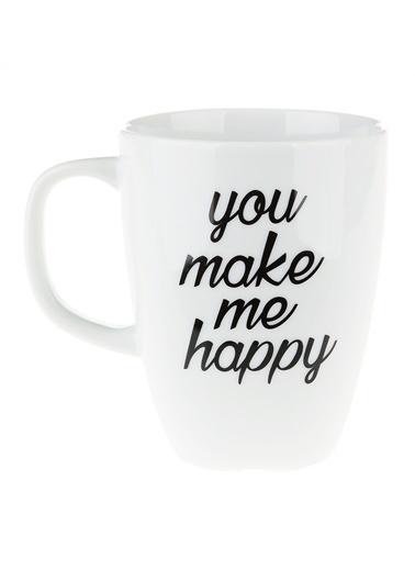 Morhipo Home You Make Me Happy - Çift Taraflı Kupa Beyaz
